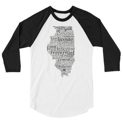 Illinois 3/4 sleeve raglan shirt