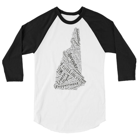 New Hampshire 3/4 sleeve raglan shirt