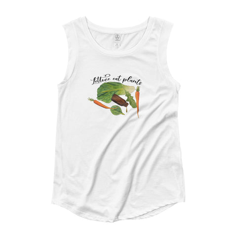 Lettuce Eat Plants Cap Sleeve T-Shirt