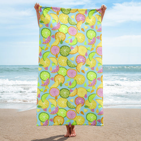 Citrus Oil Beach Towel