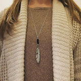 Feather Lava diffuser necklace