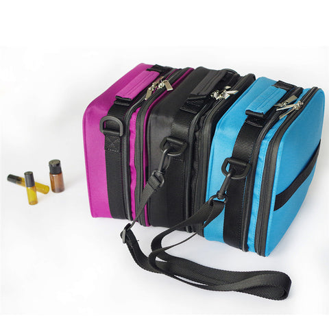 Double-Layer Portable Shock Resistant Essential Oil Travel Case Holds 42 15ml Essential Oil Bottles
