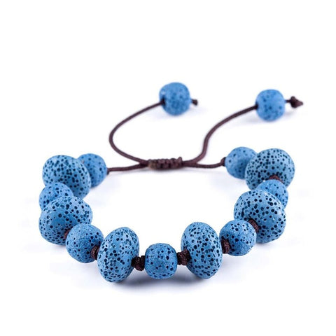 Lava Stone Beads Essential Oil Bracelet