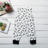 Feather Baby Romper