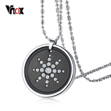 Quantum Energy Ions Necklace with Lava Stone Crystals