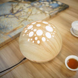 Ultrasonic Essential Oil Diffuser With Wood Grain LED Lamp