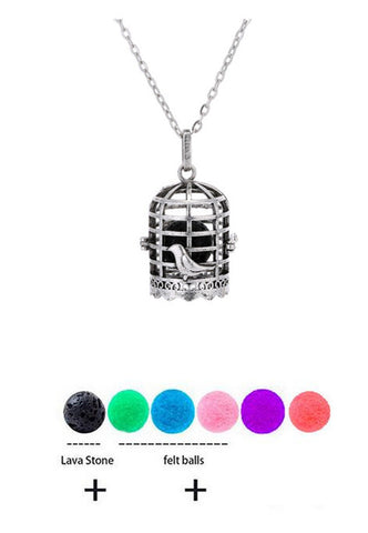 Aromatherapy Essential Oil Diffuser Necklace With Lava Stone Lockets