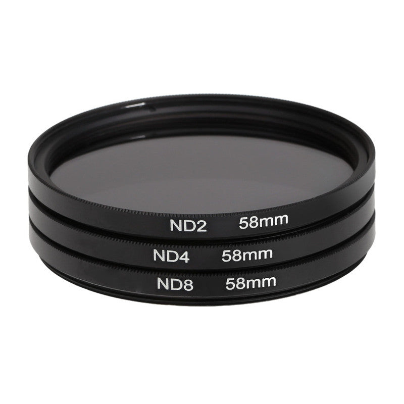 3 pcs/lot 58mm Neutral Density ND Filter Lens ND2 ND4 ND8 Filter Kit Set for Nikon for Canon Rebel T5i EOS 1100D 7000 3100 3200, , 188 Photography, 188 Photography - 188 Photography