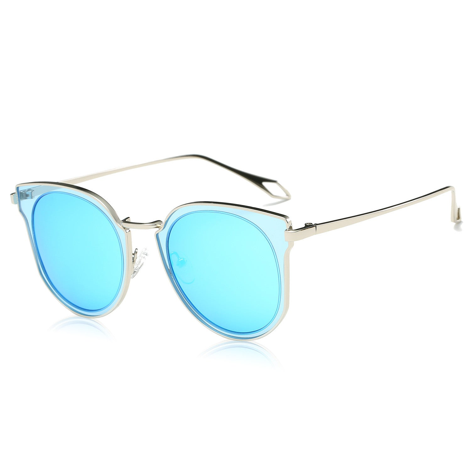 Fashion Polarized Sunglasses UV Mirrored Lens Oversize Metal Frame SJ1057, , 188 Photography, 188 Photography - 188 Photography