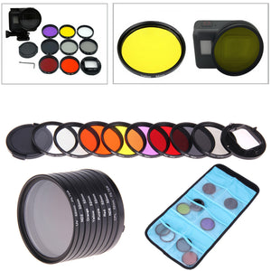 8 in 1 52mm Lens Filter Set(CPL+UV+ND8+ND2+Star 8+Red+Yellow+FLD/Purple) for GoPro HERO5 Sport Action Camera, , 188 Photography, 188 Photography - 188 Photography