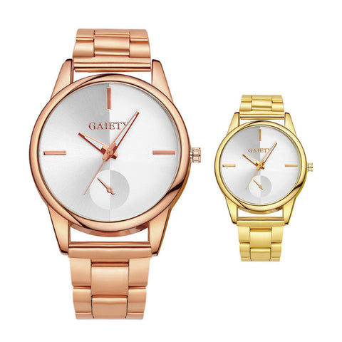 Unisex Gold Plated Wrist Watch