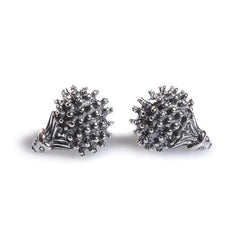 Tiny Hedgehog Stud Earrings in Silver