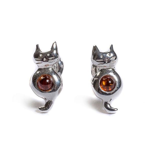 Sitting Cat Stud Earrings