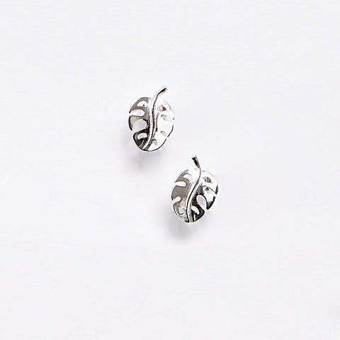 Split Leaf Palm Stud Earrings
