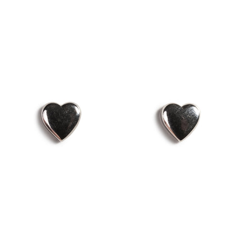 My Love Miniature Heart Stud Earrings in Silver