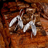 Sycamore Seed Earrings in Silver