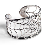 Handmade Spider Web Bangle in Silver