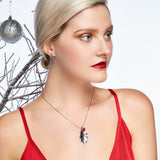 Boughs of Holly Necklace in Silver