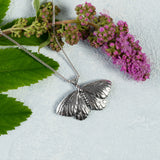 Moth Necklace in Silver
