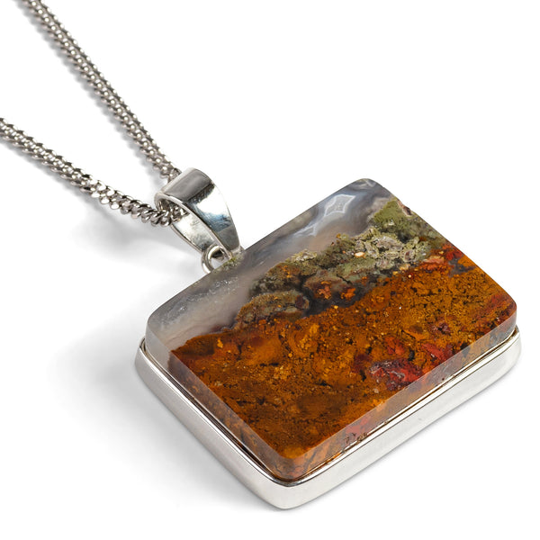 Scenic Priday Moss Agate Necklace - Natural Designer Gemstone