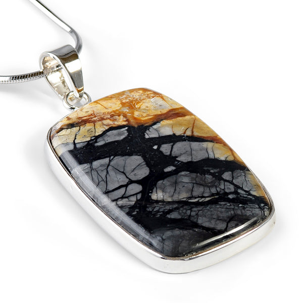 Picturesque Picasso Jasper Necklace - Natural Designer Gemstone
