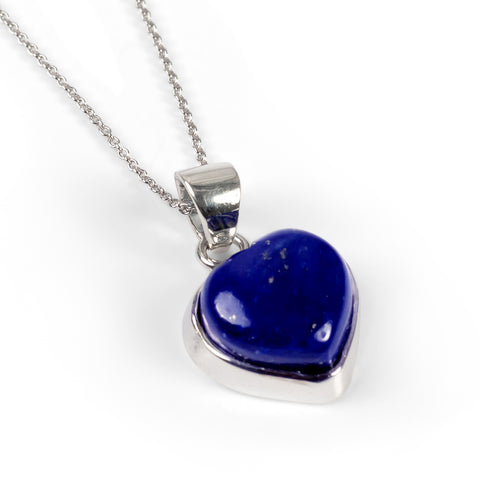 Lapis Lazuli Heart Shape Necklace - Natural Designer Gemstone