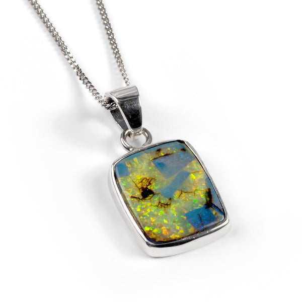 Monarch Opal Necklace in Silver