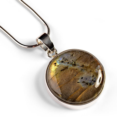 Labradorite Necklace - Natural Designer Gemstone