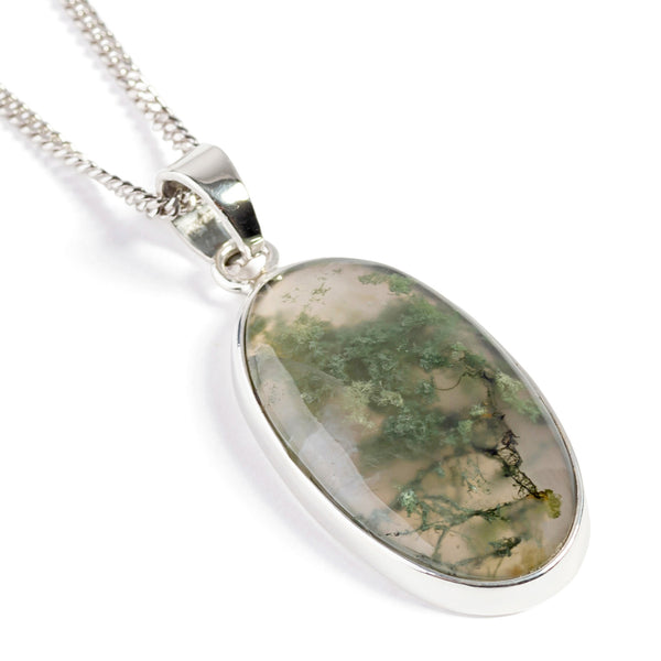 Fabulous Moss Agate Necklace - Natural Designer Gemstone