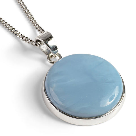Owyhee Blue Opal Necklace - Natural Designer Gemstone