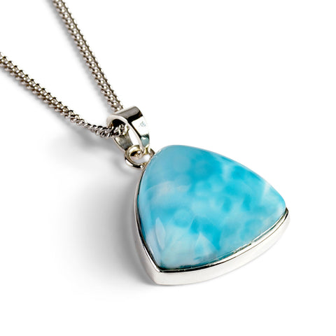 Larimar from Dominican Republic Necklace - Natural Designer Gemstone