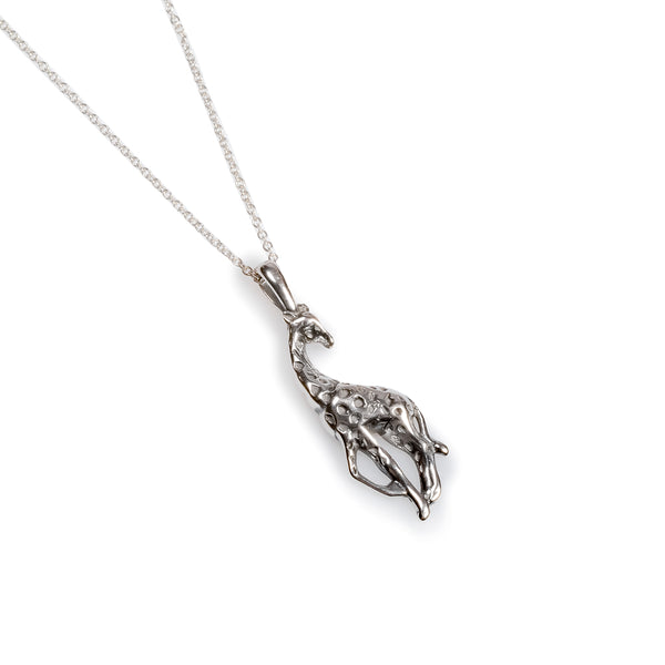 Giraffe Necklace in Silver