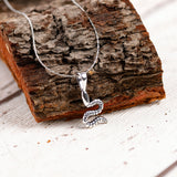 Miniature Silver Snake Necklace