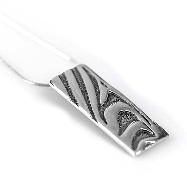 Zebra Pattern Necklace in Silver