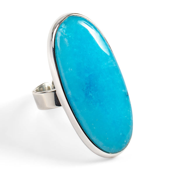 Exquisite Hemimorphite Adjustable Ring - Natural Designer Gemstone