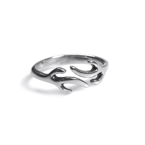 Stag Antlers Ring in Silver