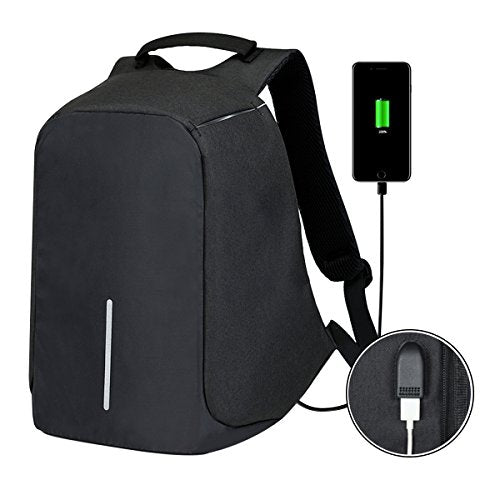 Anti-Theft Business Laptop Backpack with USB Charging Port Travel Backpack School Book Bag Fits 15.6 Inch Laptop Notebook for College Students Work Men & Women