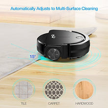 Housmile Robotic Vacuum Cleaner with Drop-Sensing Technology and Powerful Suction, for Hard Floor and Thin Carpet