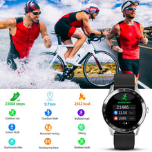 "Blackview Smart Watch for Android Phones and iOS Phones, Smart Watches for Men Women, Fitness Tracker Watch with Heart Rate Sleep Monitor, 1.3"" Full Touch Screen, 5ATM Waterproof Pedometer(46mm)"