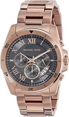 Michael Kors Men's Brecken Rose Gold-Tone Watch MK8563