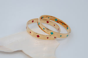 FLEUR ROYALE BANGLE - Gold Vermeil