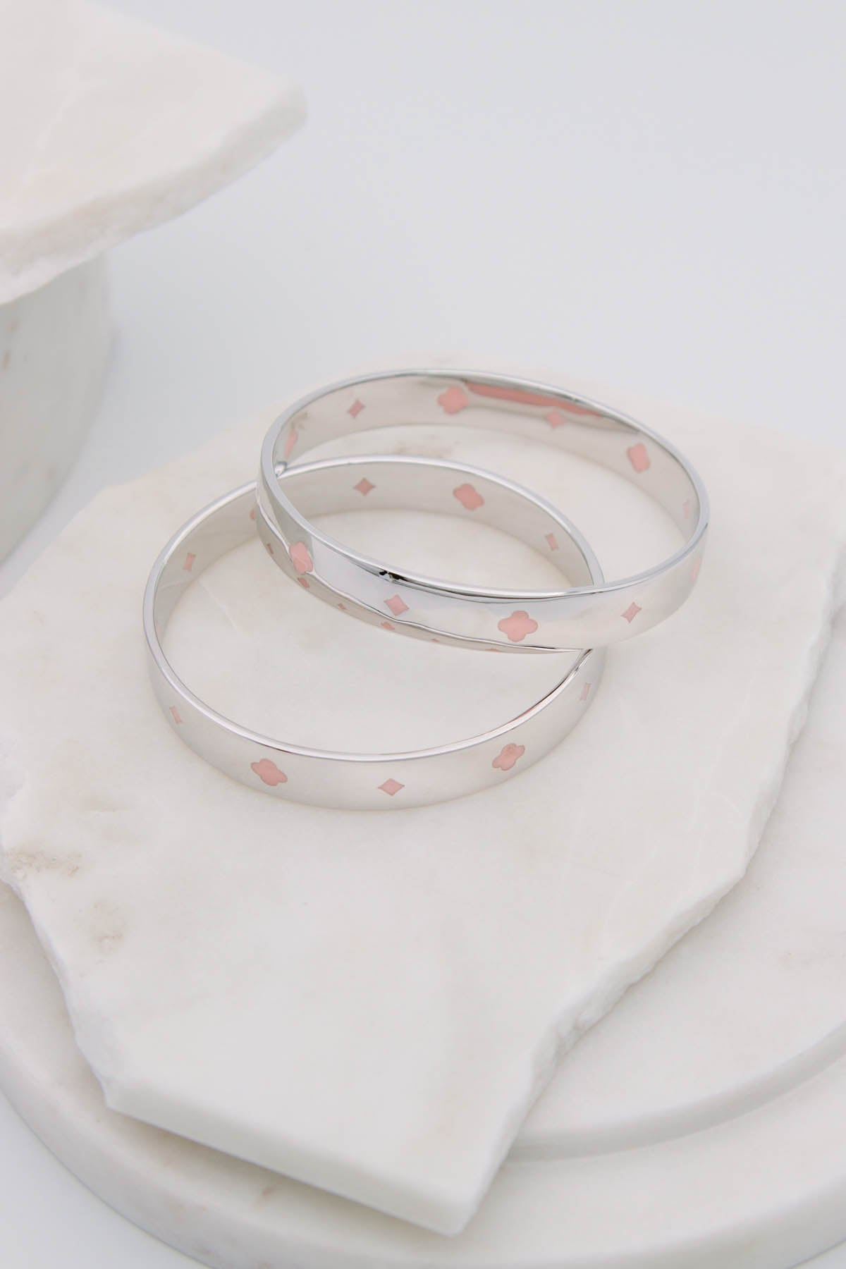 FLEUR ROYALE BANGLE - Sterling Silver