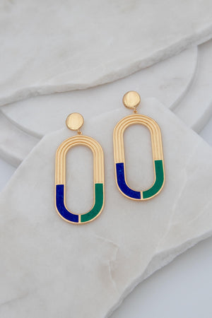 L'ARC EN CIEL EARRINGS - Gold vermeil