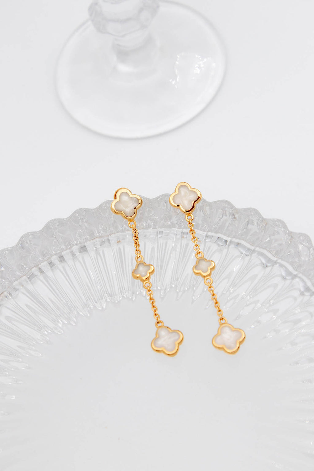 FLEUR ROYALE EARRINGS - Gold vermeil