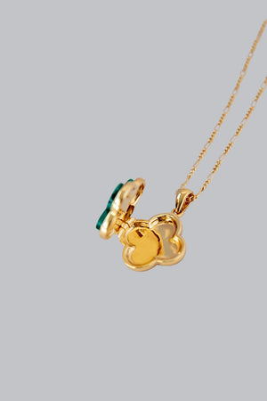 FLEUR ROYALE SECRET LOCKET NECKLACE - Gold Vermeil