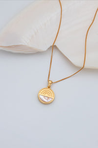 L'ARC EN CIEL SECRET LOCKET NECKLACE - Gold vermeil