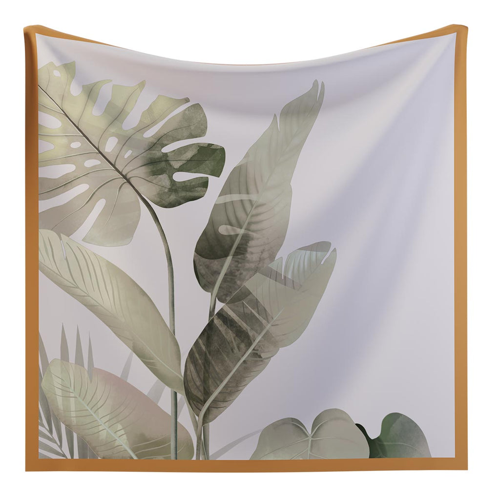 MONSTERA - Silk Twill Scarf