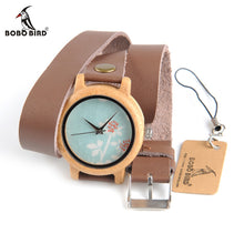 BOBO BIRD Wooden Watch with Long Leather Strap