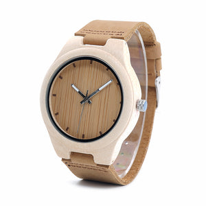 BOBO BIRD Maple Wood Watch Pine Wooden Top