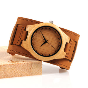 BOBO BIRD  Bamboo Wood Chicago Bracelets Detachable